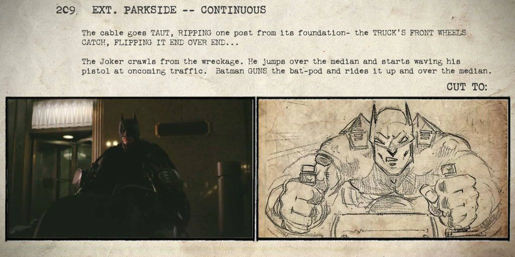 The Dark Knight Storyboards & Final Movie Compared in New Video