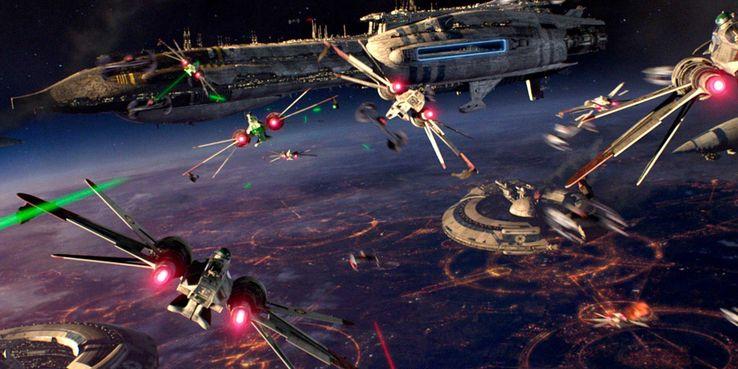 Image result for star wars space battle
