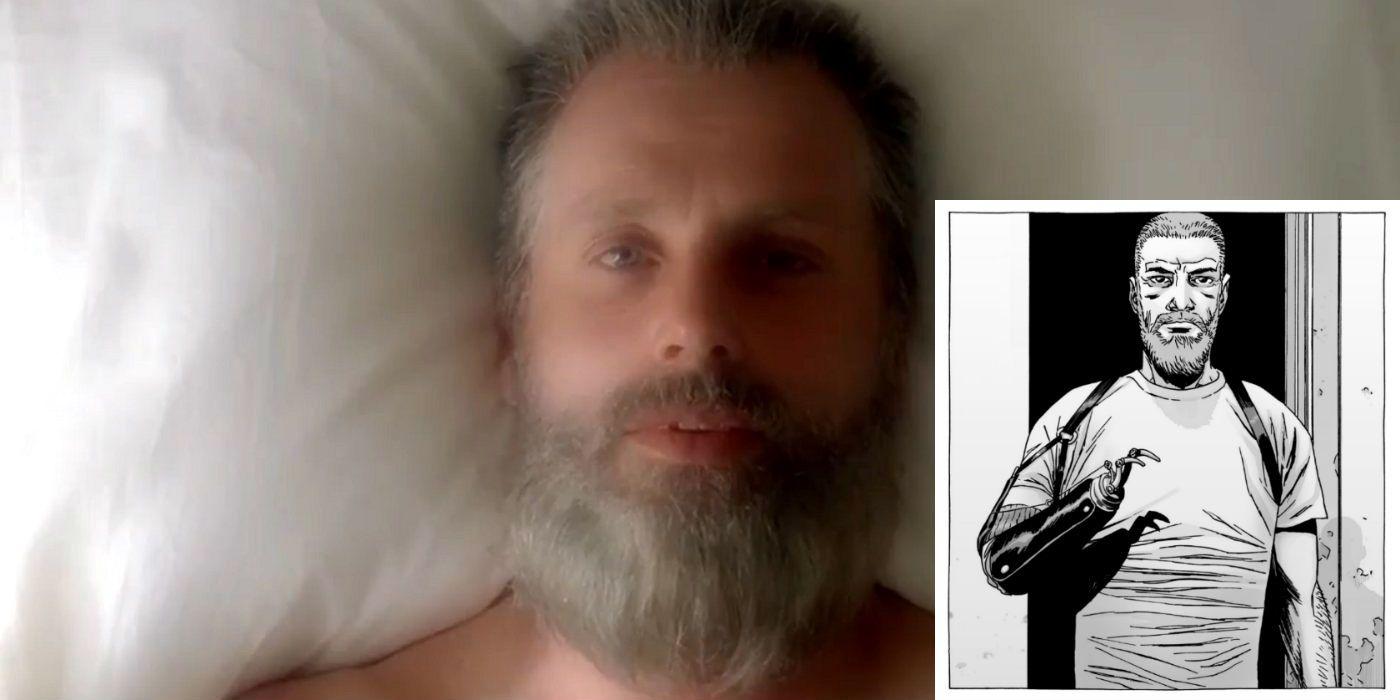 why is rick older in the walking dead season 8 trailer. Black Bedroom Furniture Sets. Home Design Ideas