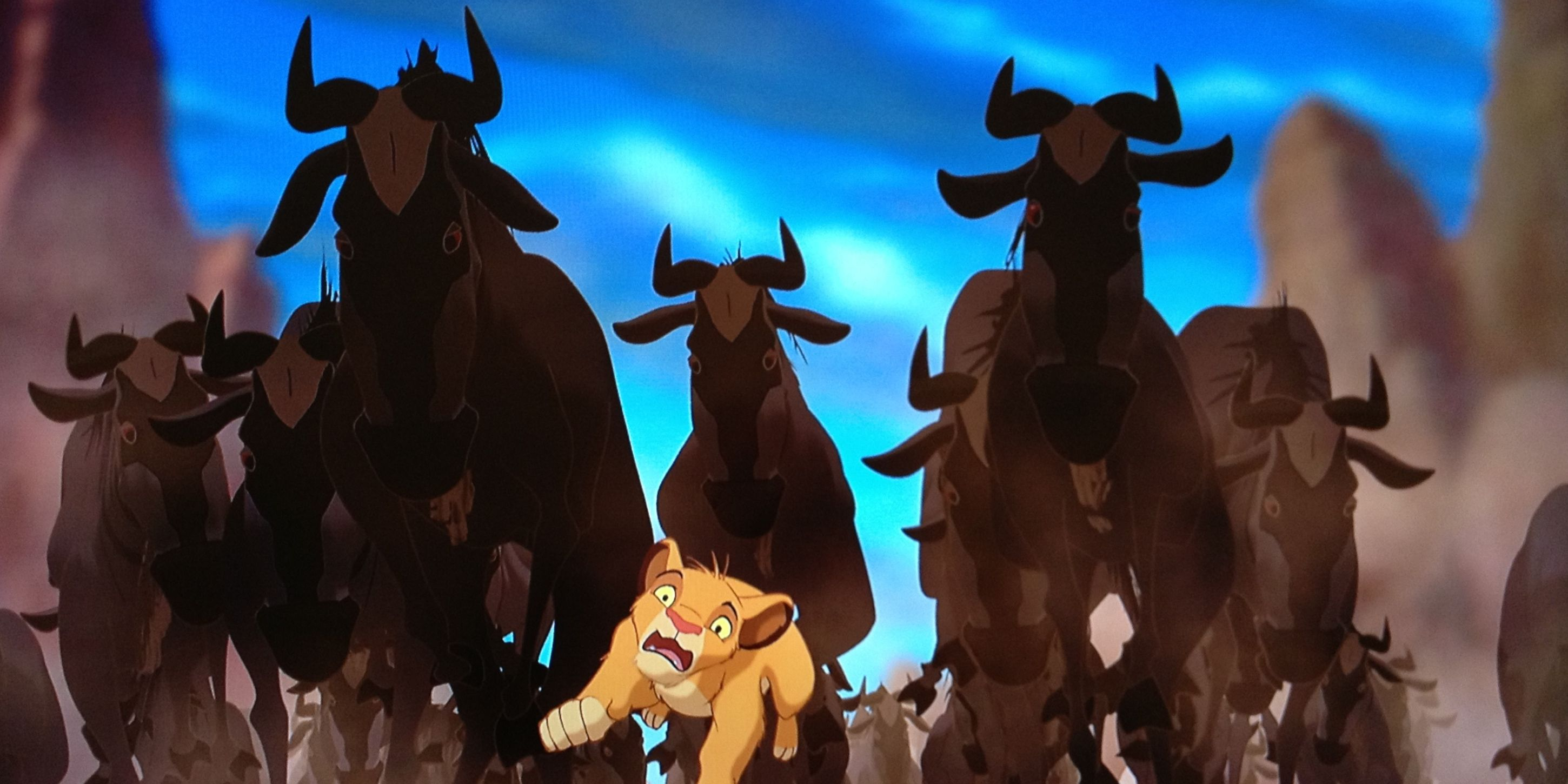 lion king stampede scene took 3 years to make screenrant