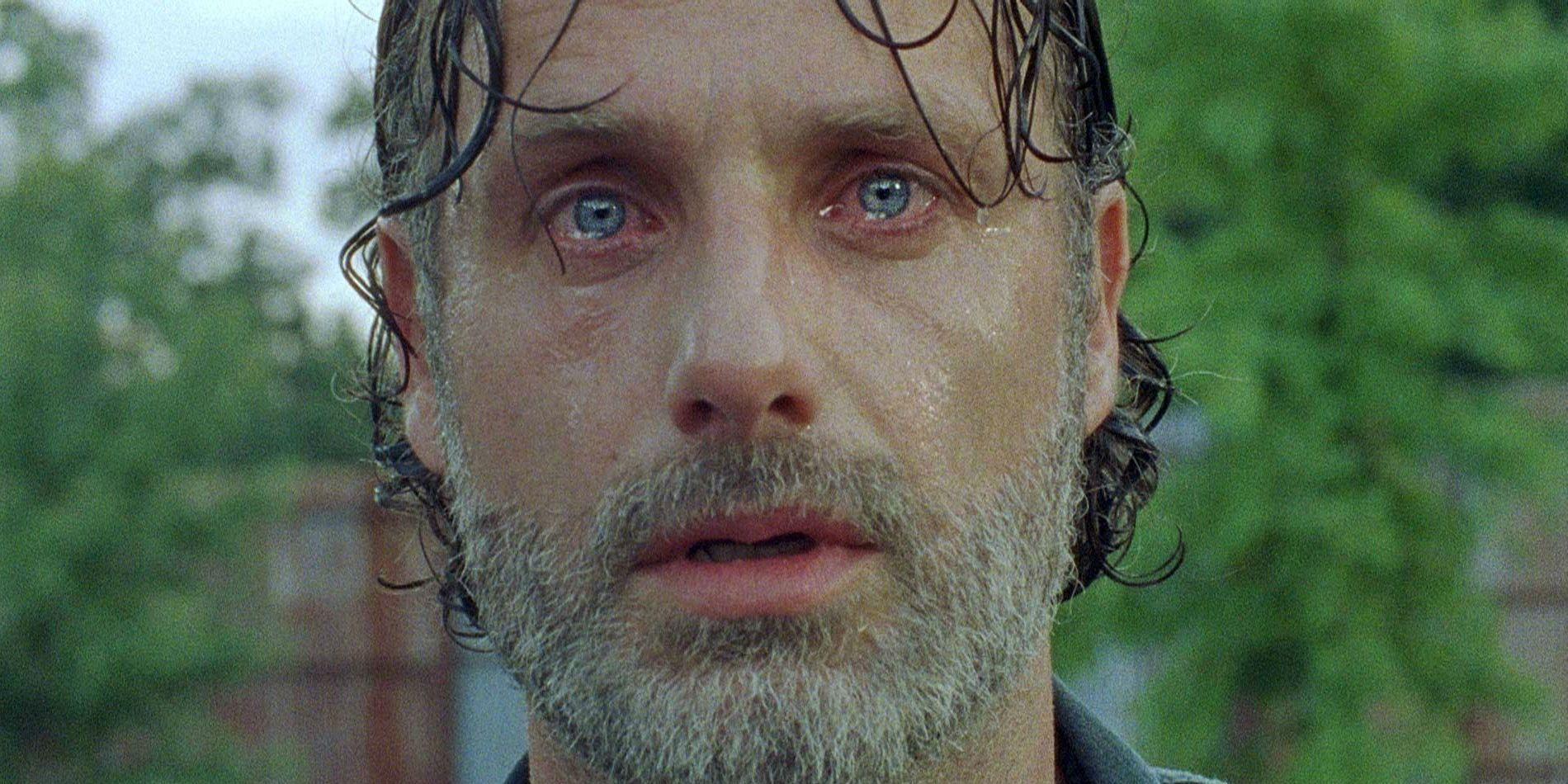 Walking Dead: Is Rick Dying in That Final Shot?   Screen Rant