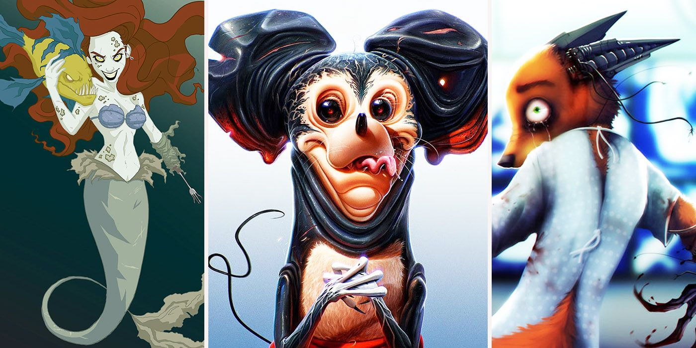 8 Disturbing Cartoon Characters : Creepy redesigns of disney characters we can t unsee