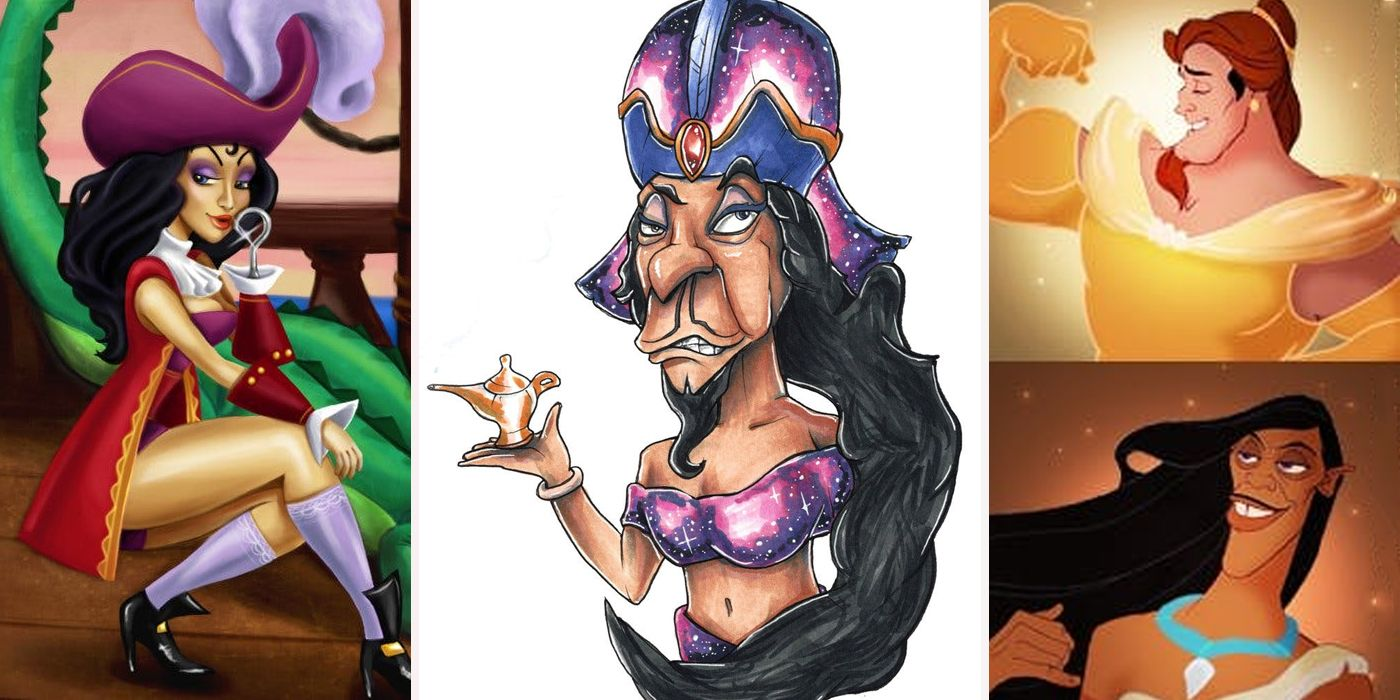 Thought differently, disney princess as villains