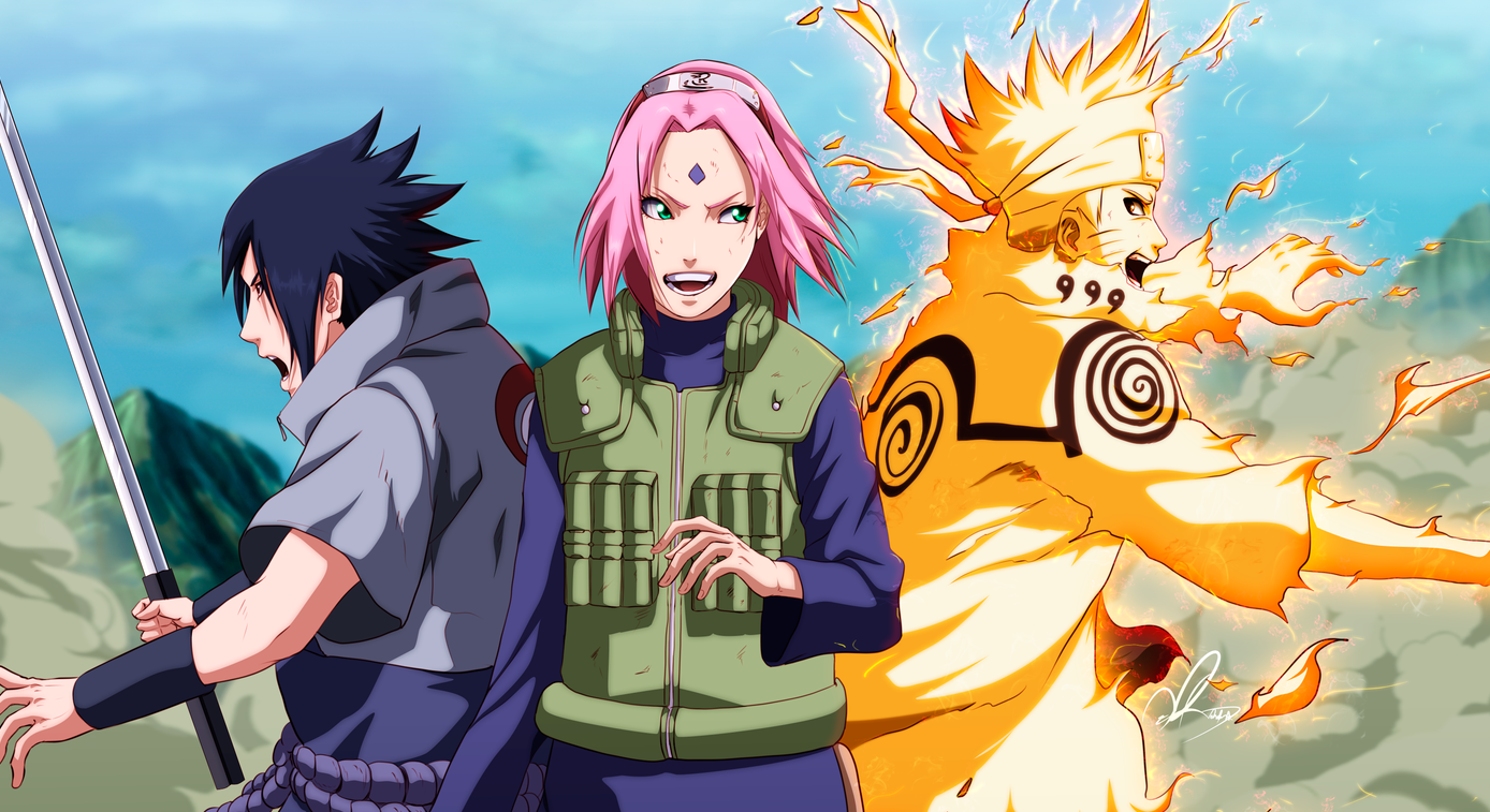 Naruto sasuke and sakura apologise, but