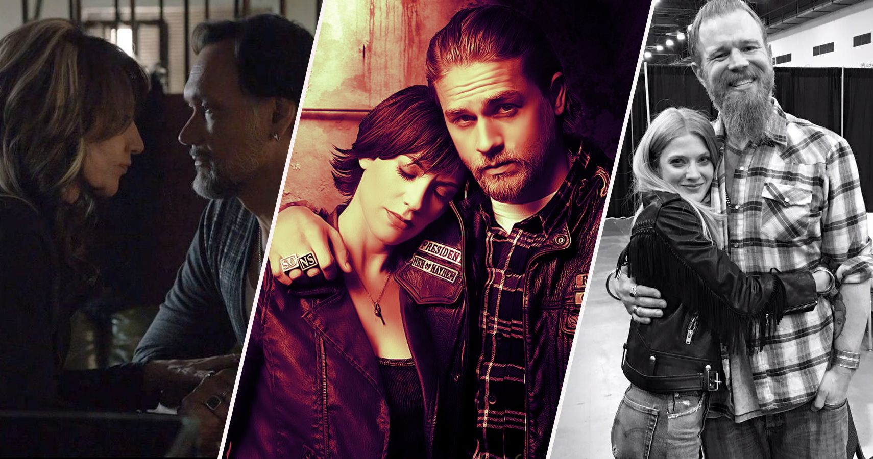 sons of anarchy 10 couples that hurt the show and 10. Black Bedroom Furniture Sets. Home Design Ideas