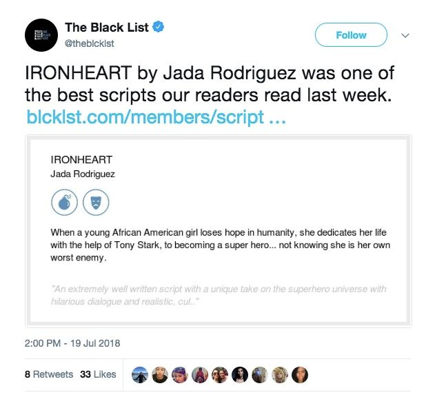 Marvel Ironheart Movie Script Appears On The Black List