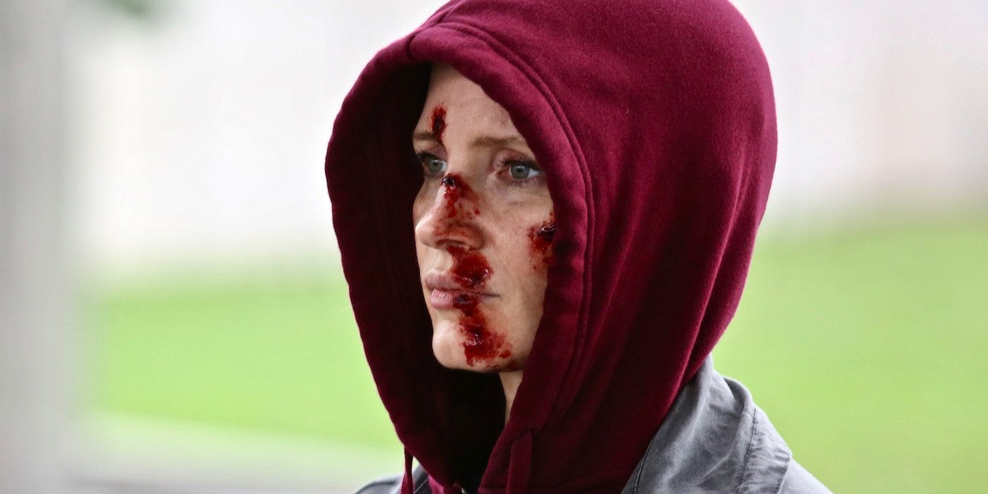 Jessica Chastain is a Bloody Assassin in Eve First Look Image