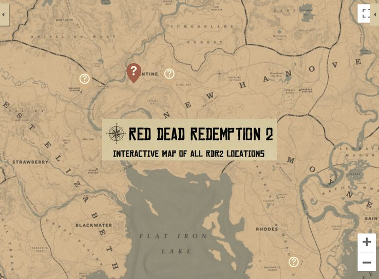 interactive map red dead redemption 2