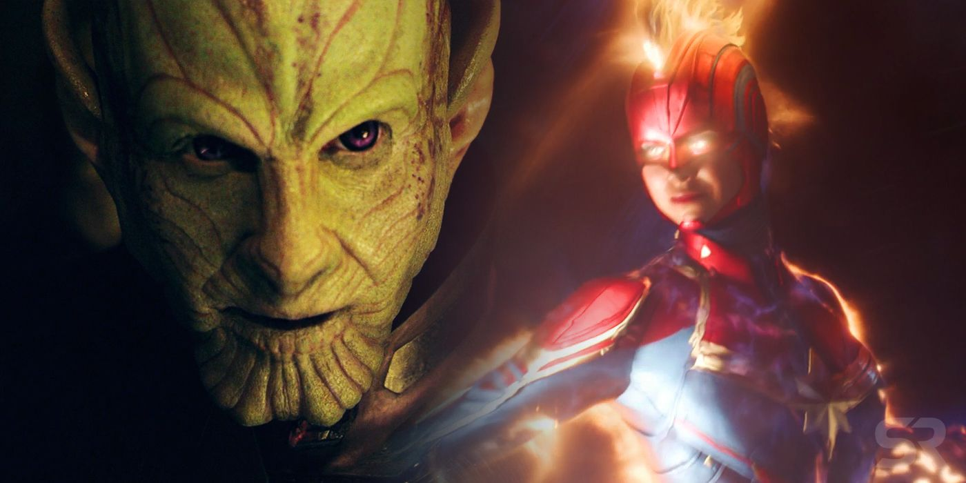 Captain Marvel One Month Teaser Reveals Skrull Invasion Of Earth