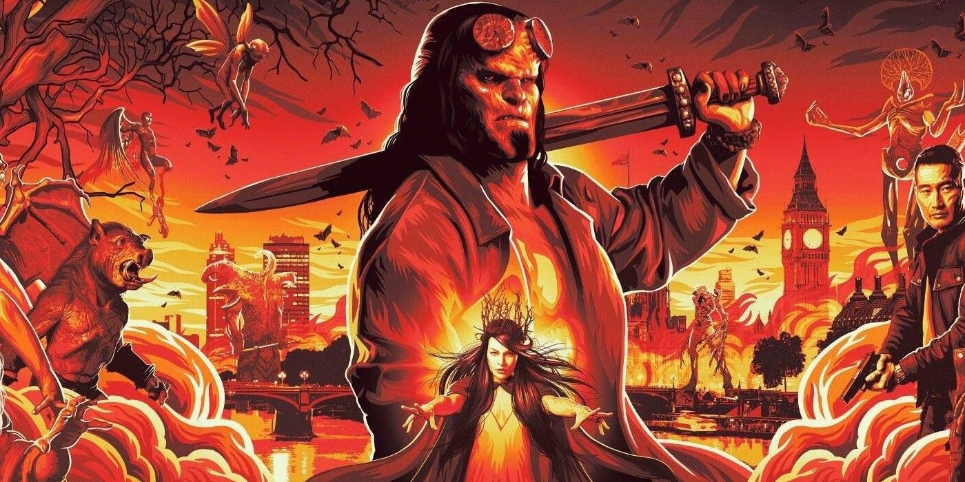 Movie Poster 2019: Hellboy (2019) Trailer: David Harbour Fights The Forces Of