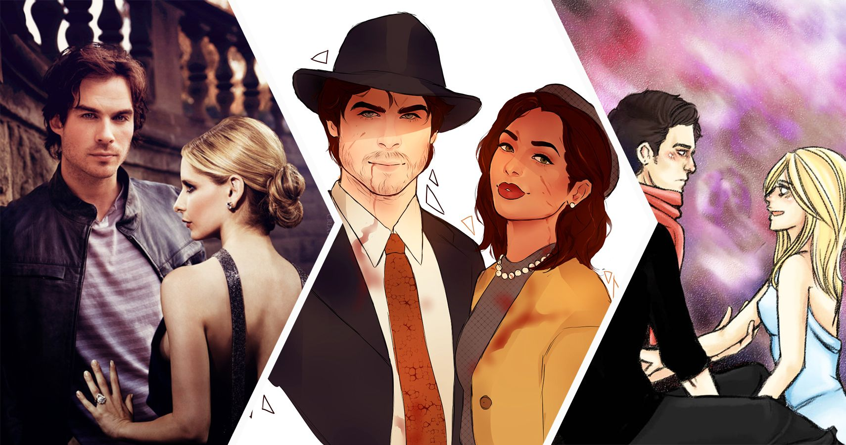 20 Fan Redesigns Of Unexpected Vampire Diaries Couples