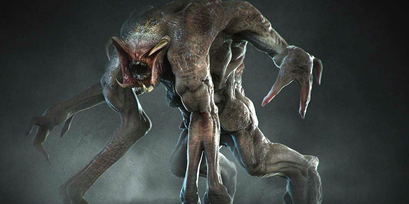 The predator concept art reveals predator with 6 5 limbs