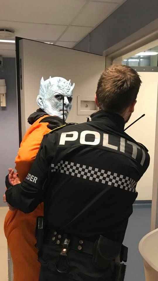 The police taking away the Night King