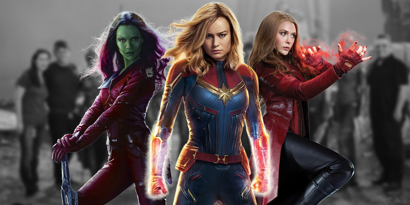 Female Avengers Assemble in Endgame BTS Image