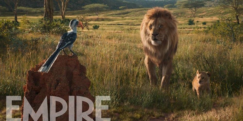 new lion king remake image sees zazu give mufasa the