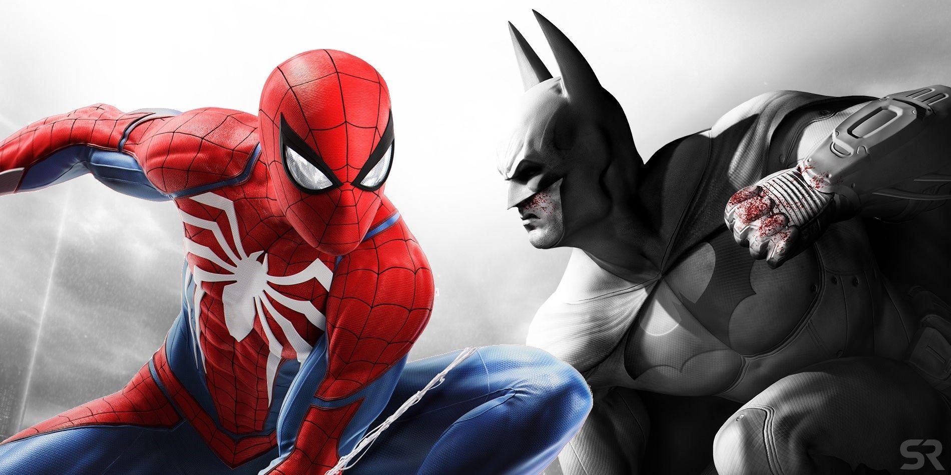 spider man ps4 vs batman arkham city ile ilgili görsel sonucu