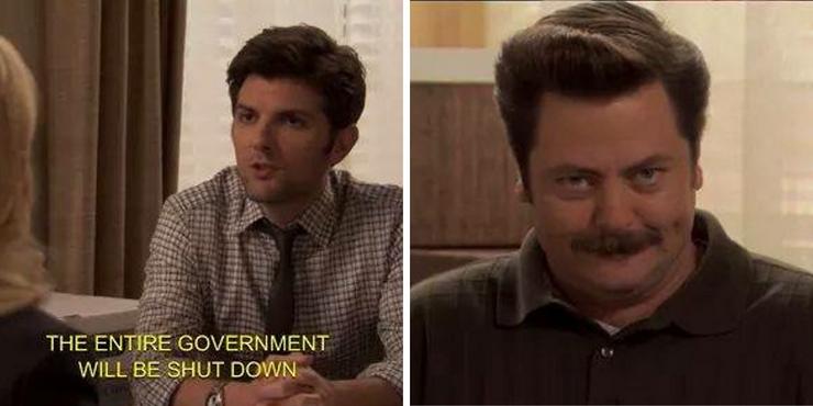 Ron Swanson Government Shutdown