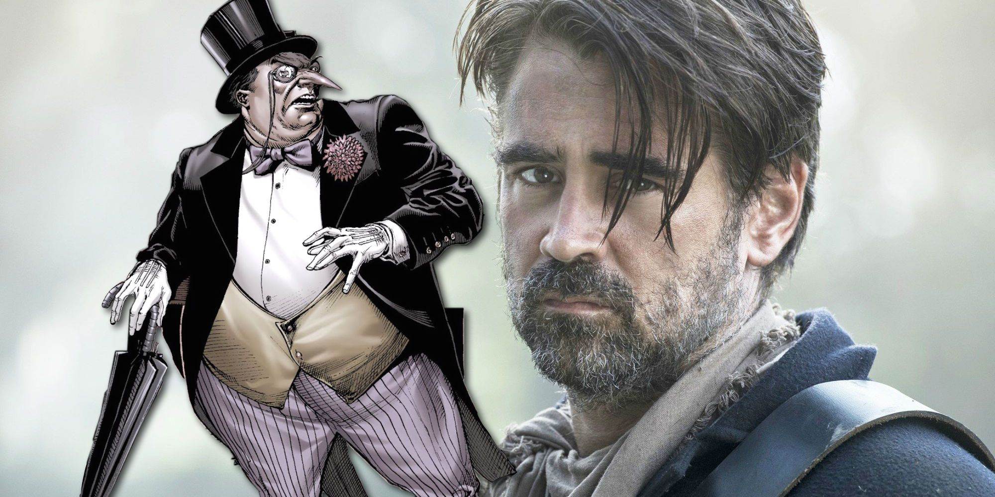 Batman: Colin Farrell's Penguin Hairstyle & Mustache Revealed In Photos