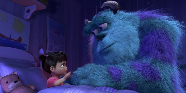 This movie proves that one final word in a film can make you cry. The last shot of Monsters, Inc. movie always makes me move.