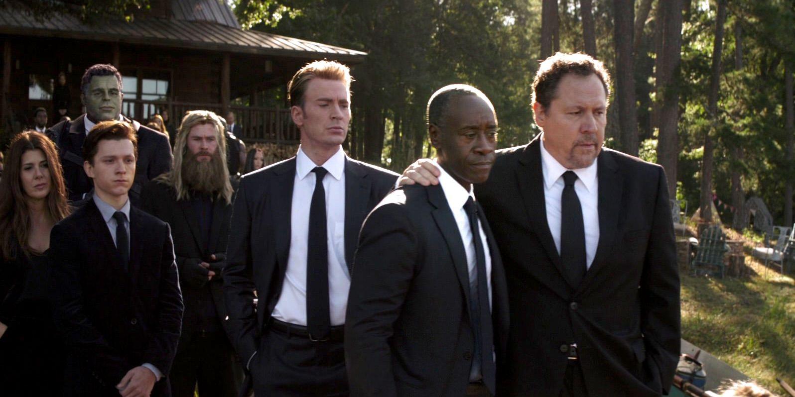 Tony Stark Attends Steve Rogers' Funeral In Avengers: Endgame Fan Art