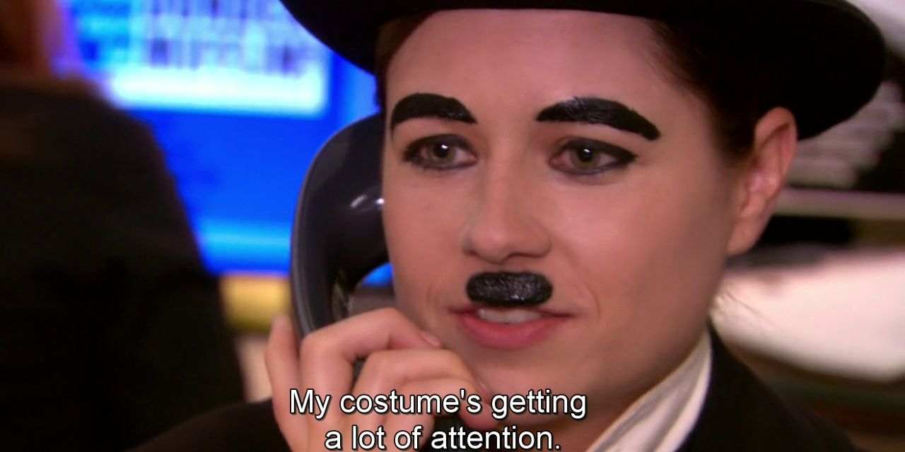 Pam Charlie Chaplin costume from The Office