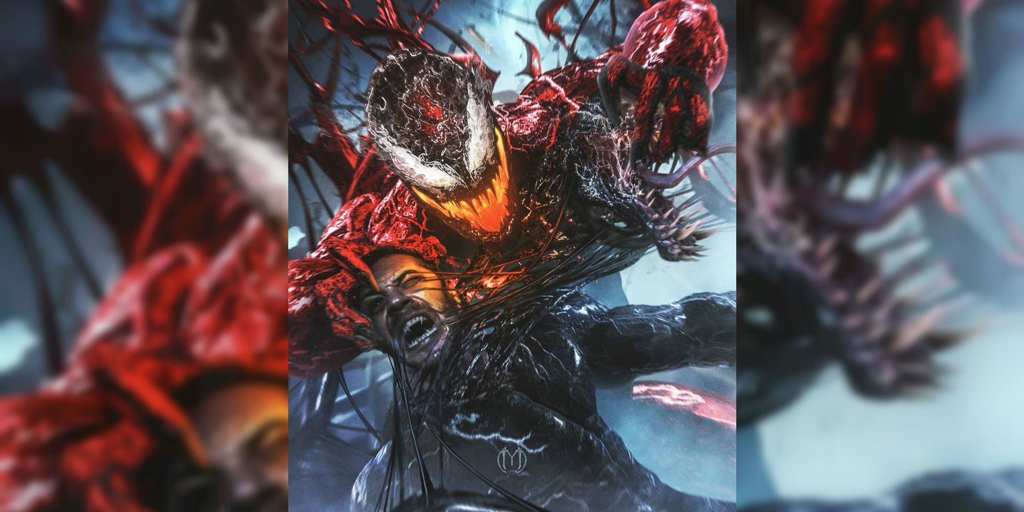 Venom 2 Fan Poster Recreates Comic Cover With Carnage ...