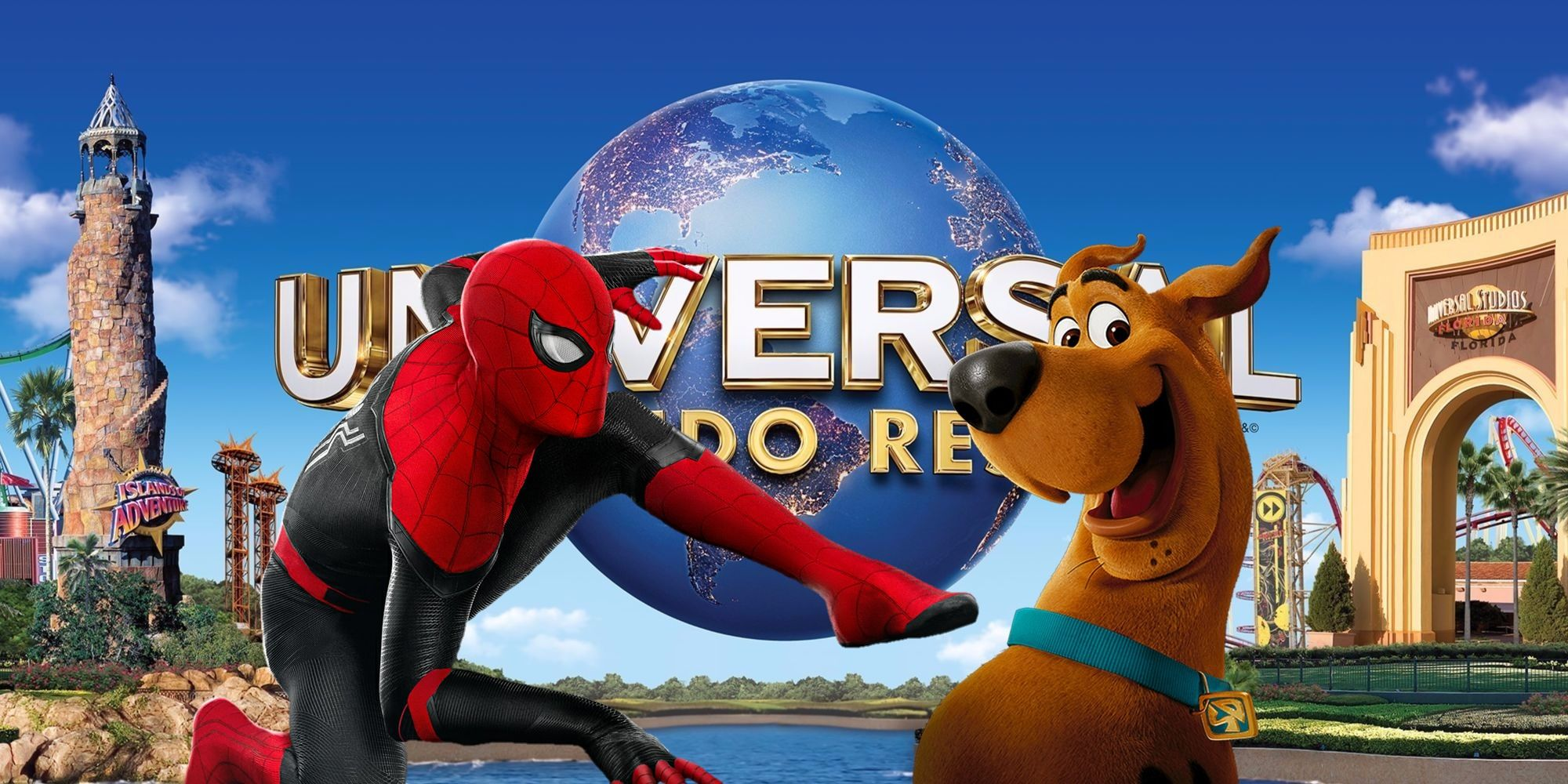 Marvel & Scooby Doo Characters Wear Masks In Universal Orlando Photos