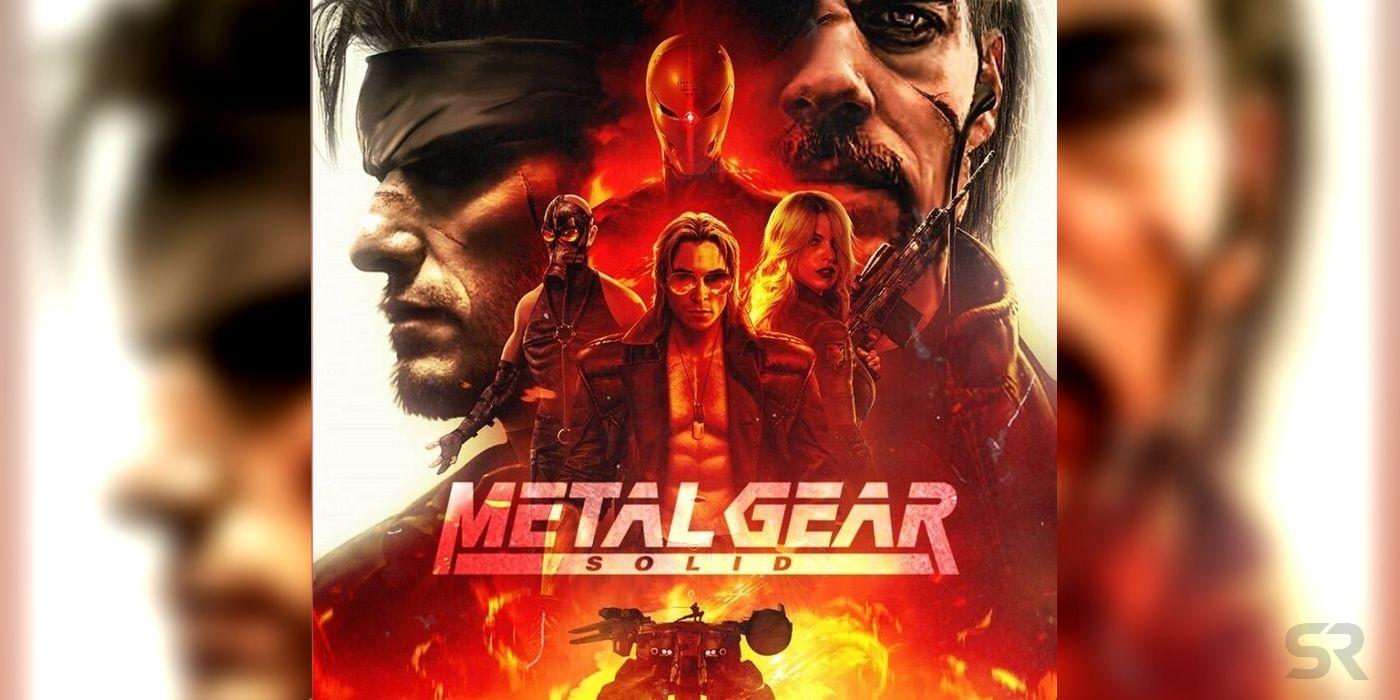 Henry Cavill Christian Bale Metal Gear Solid Fan Movie Poster