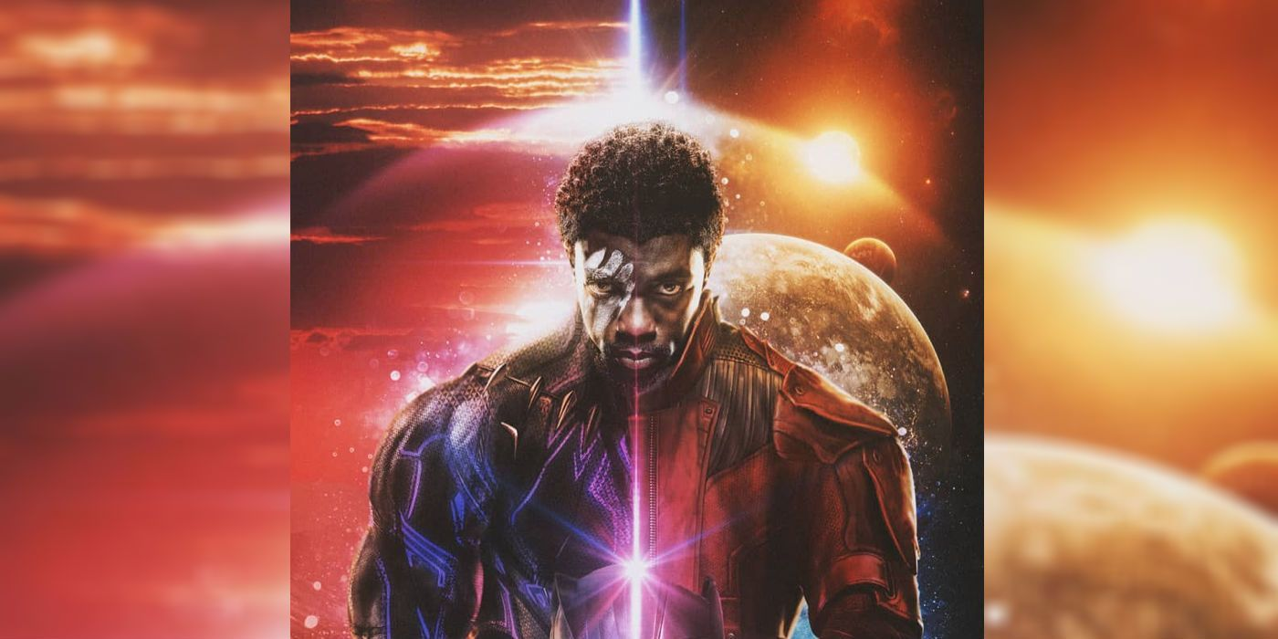Marvel Fan Art Imagines Chadwick Boseman S T Challa As Star Lord For What If