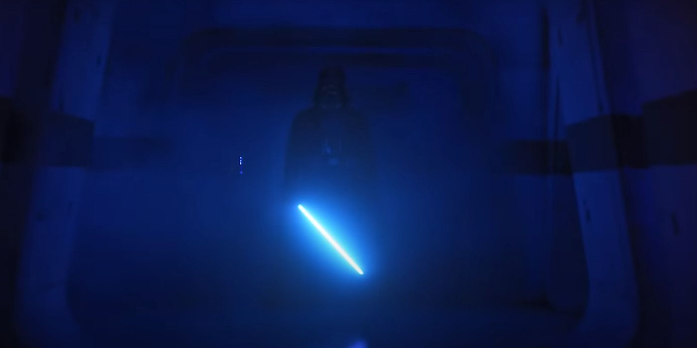 Darth Vader With A BLUE Lightsaber In Rogue One's Hallway Is A Must Watch