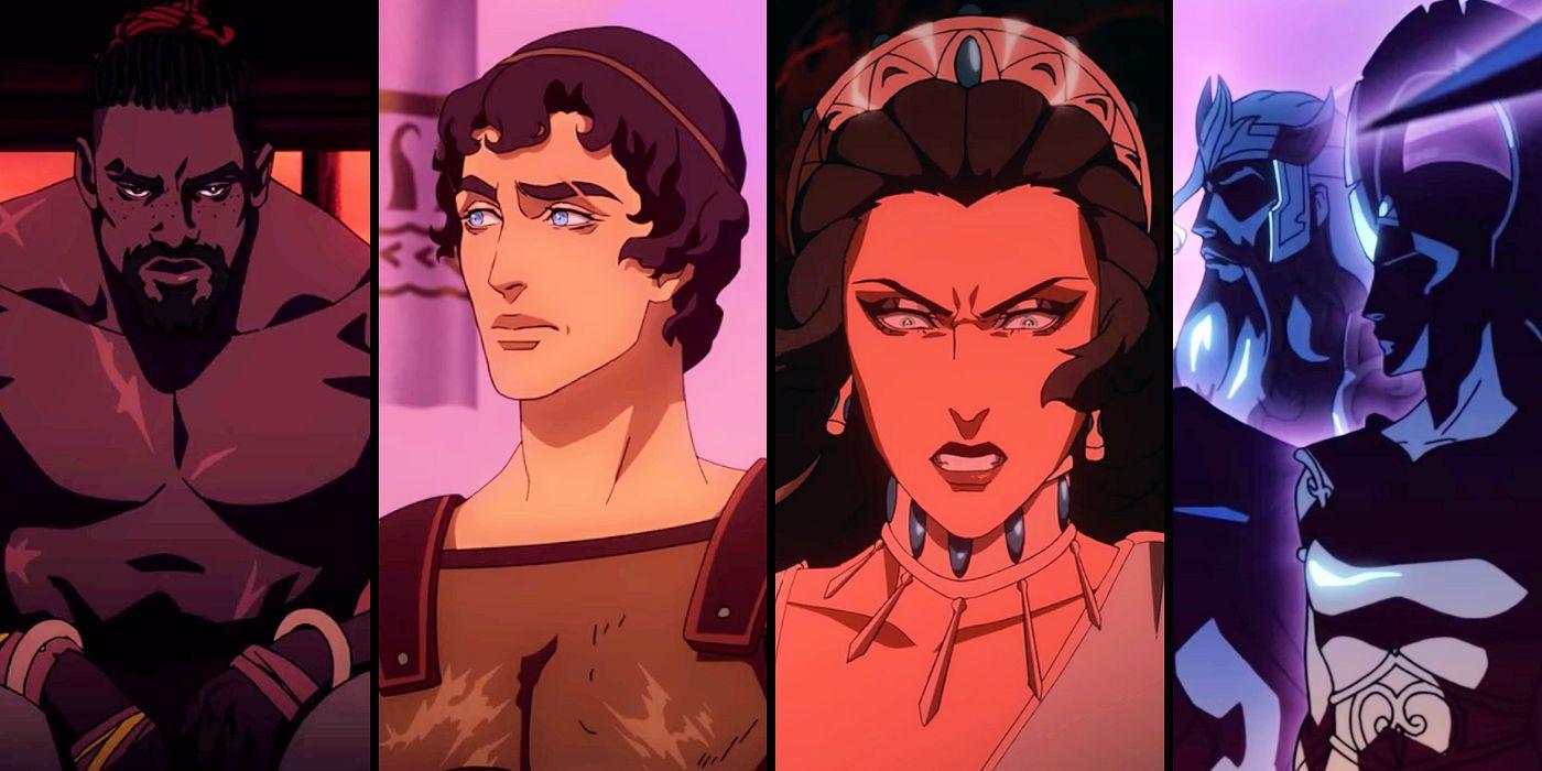 personaggi di blood of zeus di netflix