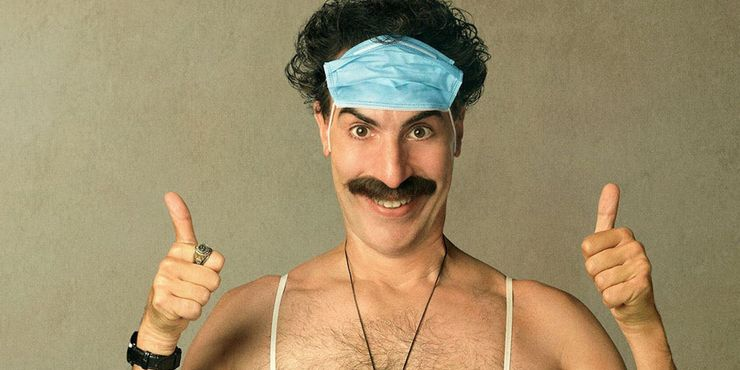 Sacha Baron Cohen in Borat Subsequent Moviefilm Poster