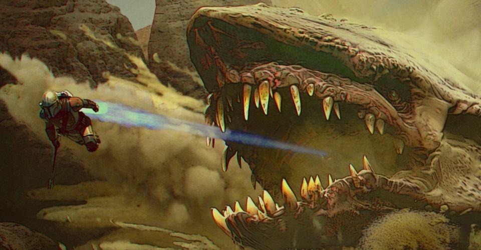 Canon Vader VS Darth Malgus - Page 2 Mandalorian-Concept-Art-Cobb-Krayt-Dragon