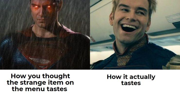 Image result for superman vs homelander meme dating