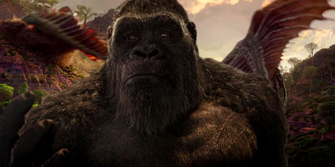 Godzilla vs Kong's Two Flying Monsters In The Trailer Explained