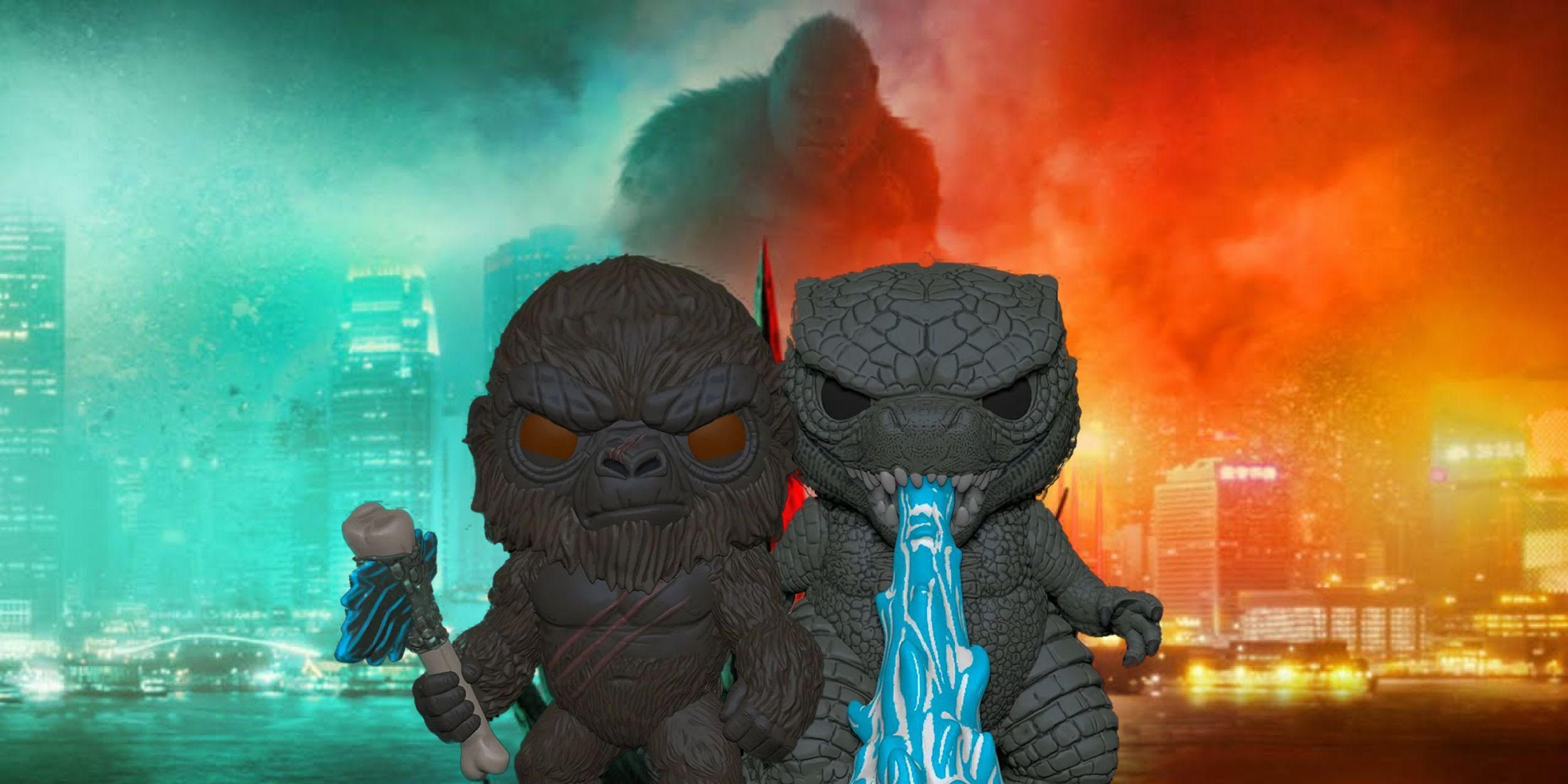 Godzilla Vs Kong Funko Pops Revealed Ahead of the Monsters' Epic Battle