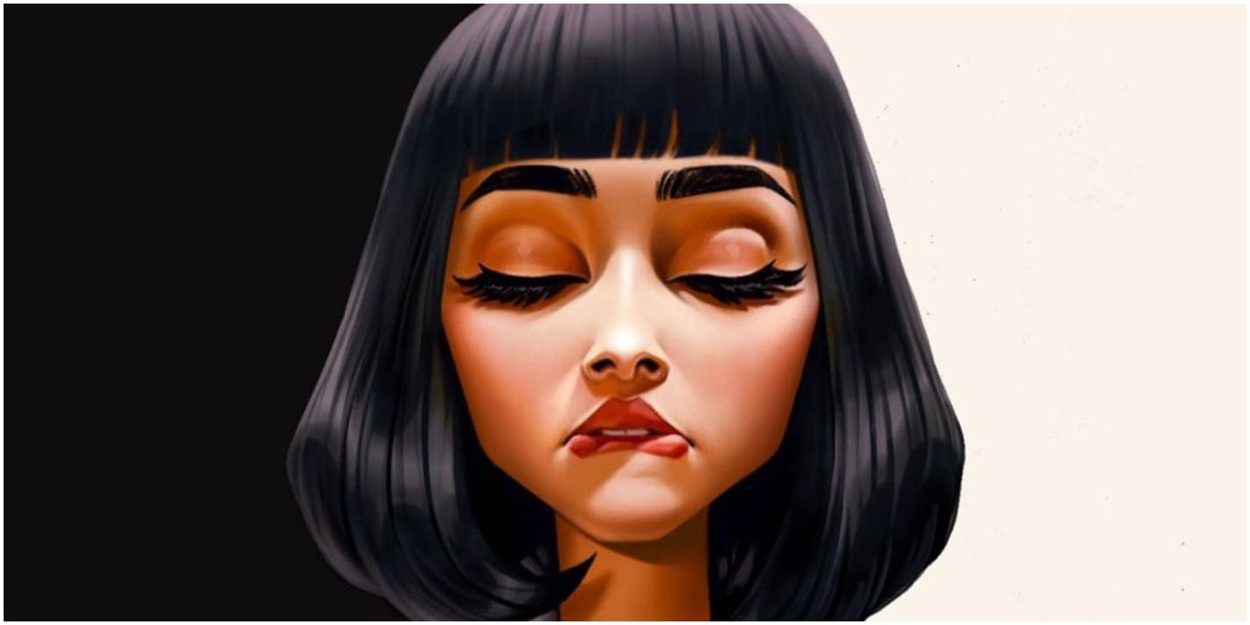Pulp Fiction's Mia Wallace Imagined As An Animated Character