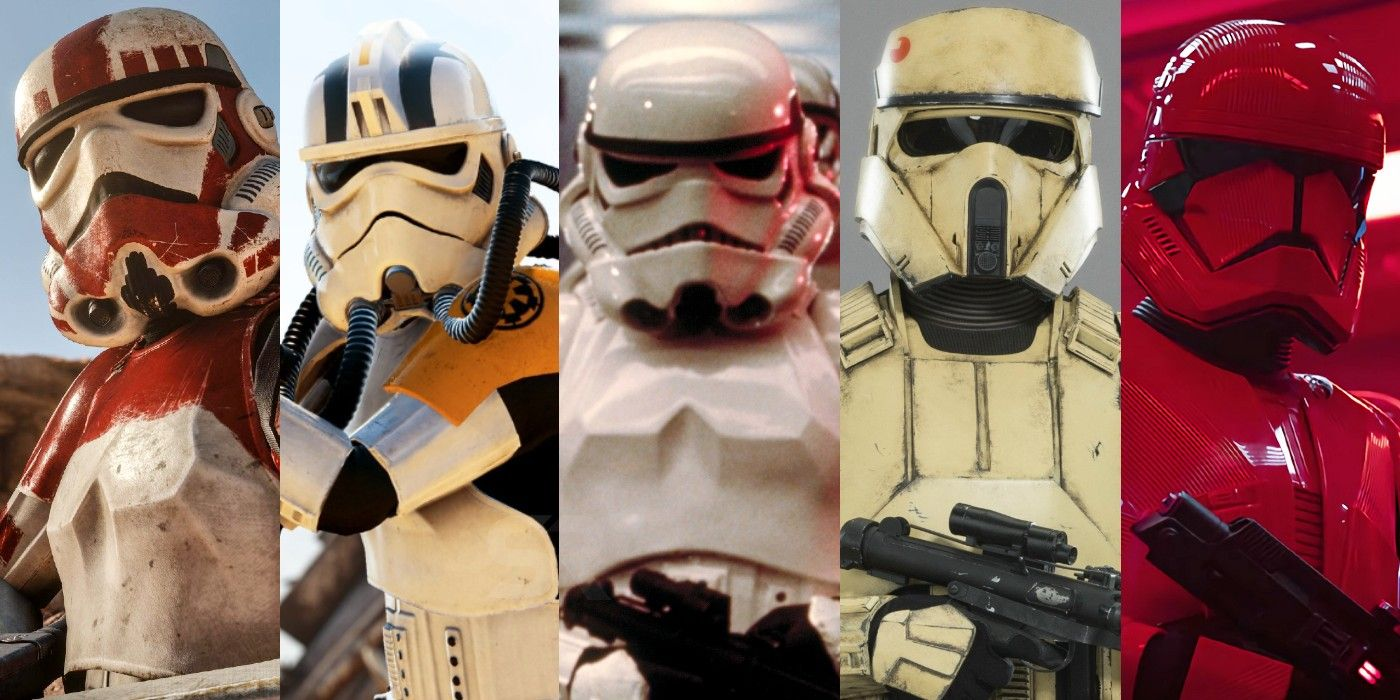 Star Wars: Every Type of Stormtrooper In Canon Explained