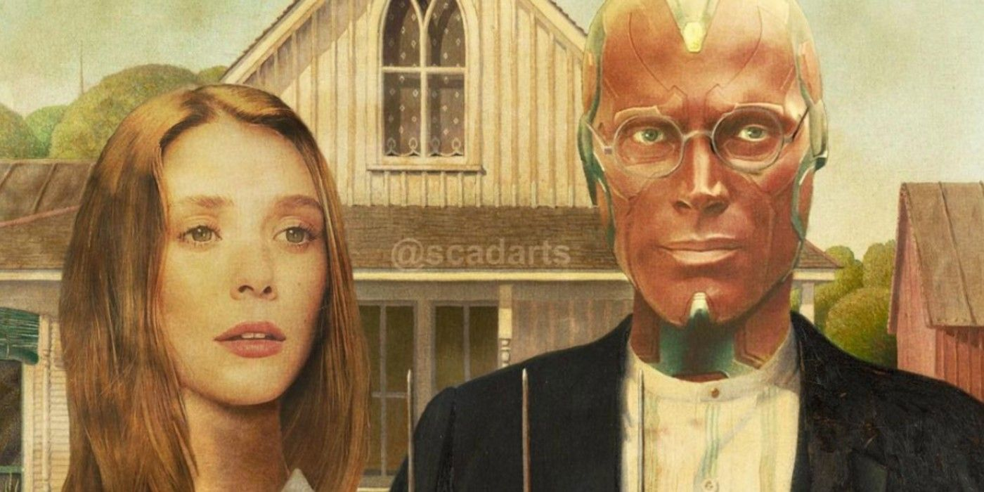 WandaVision Reimagined As The Iconic American Gothic Painting