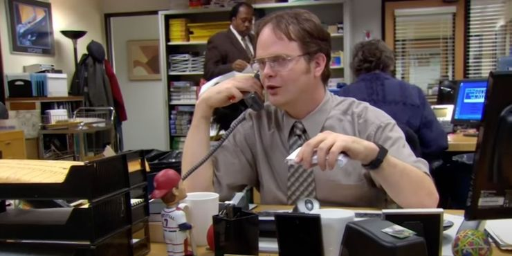 Dwight in a still from the episode