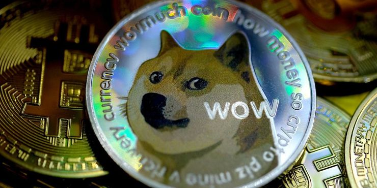 The Dogecoin cryptocurrency.