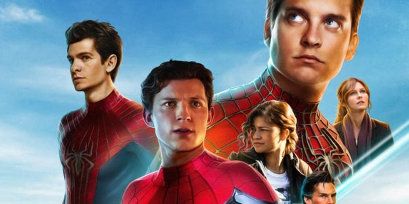 Spider-Man No Way Home Art Unites 3 Marvel Franchises
