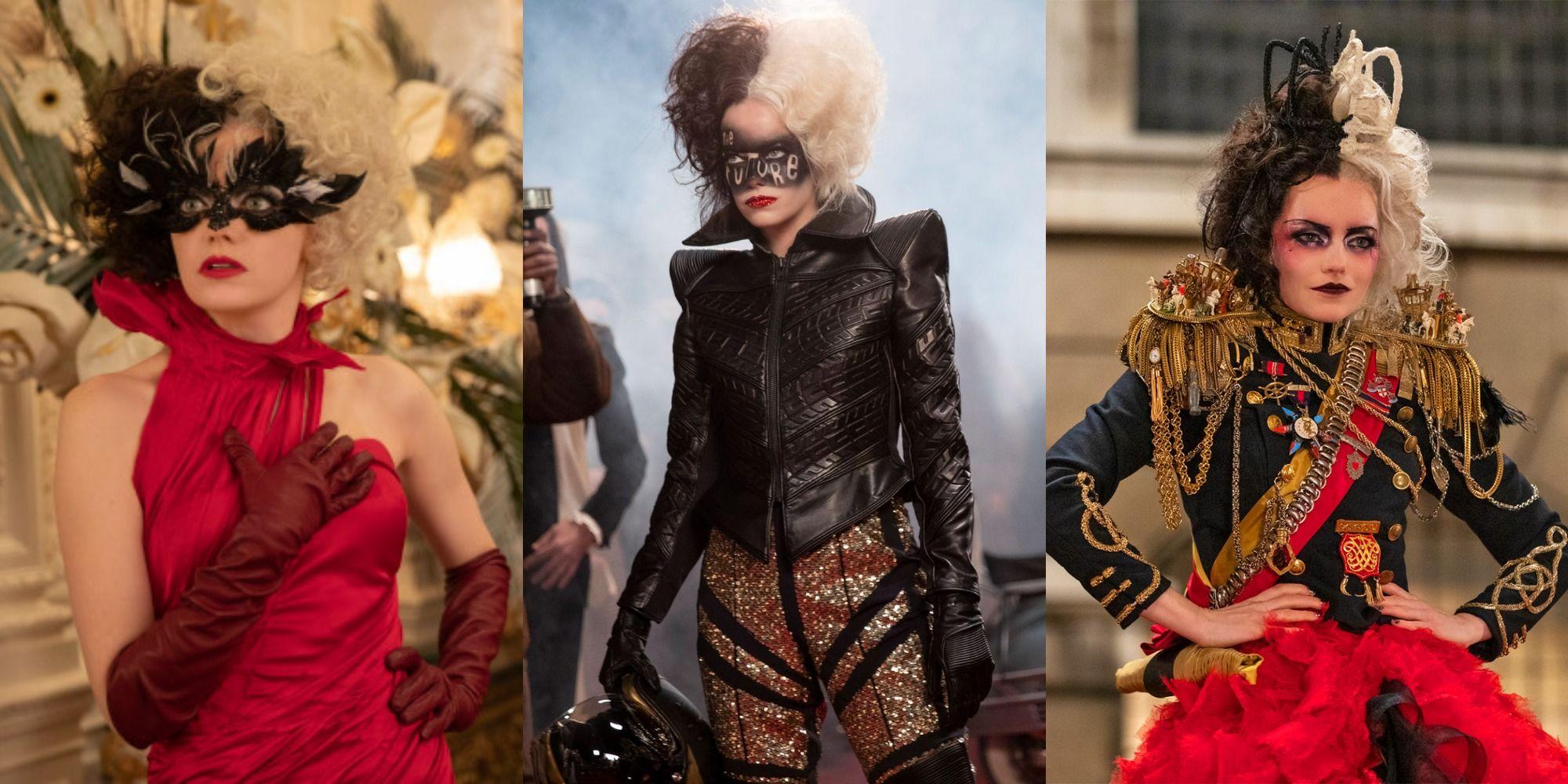 Cruella: Her 10 Best Outfits, Ranked | ScreenRant