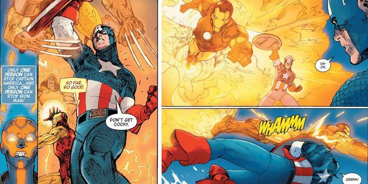 Iron Man & Captain America Fight In New Civil War