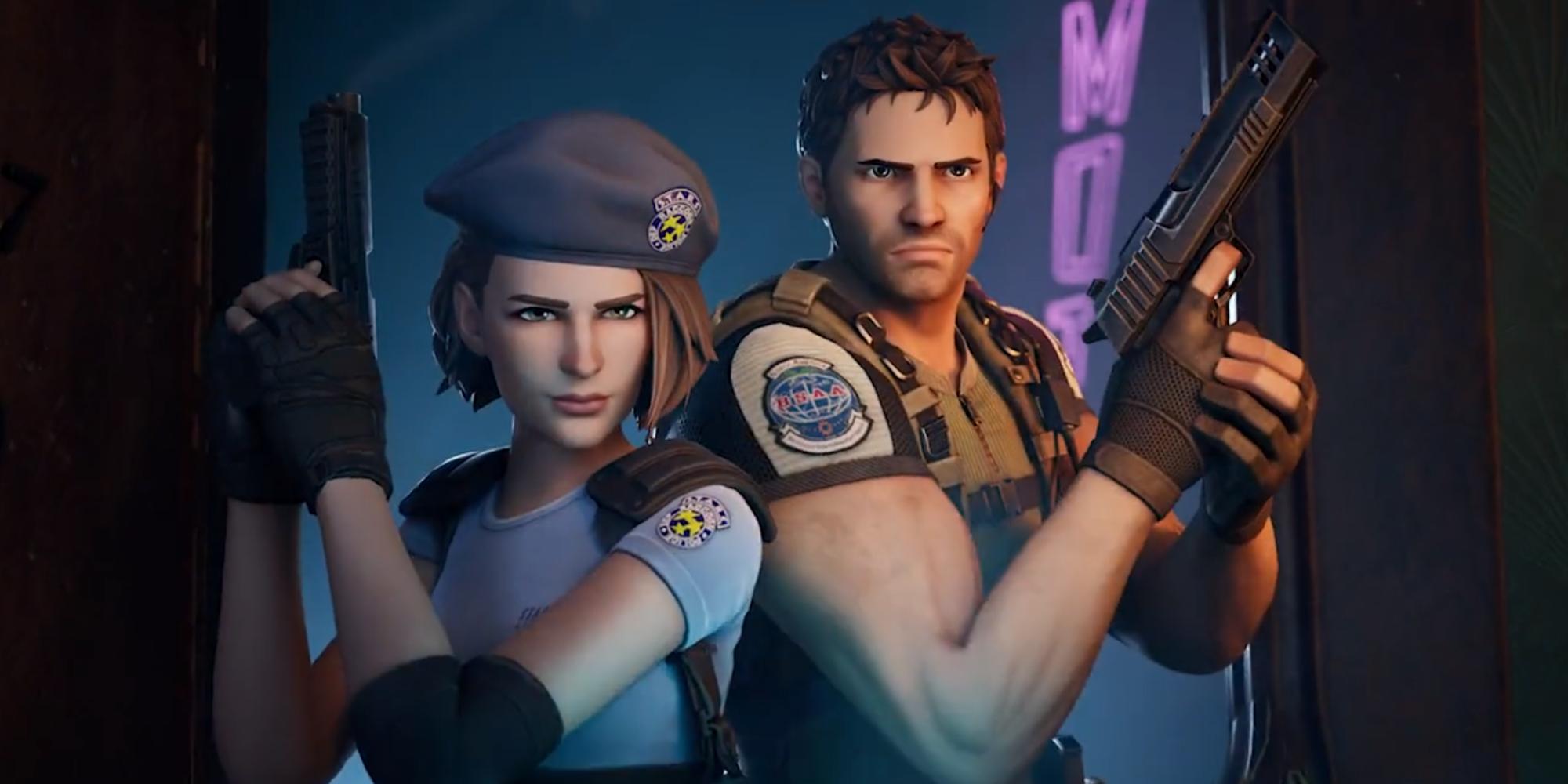Fortnite Adds Resident Evil's Chris Redfield and Jill Valentine Skins