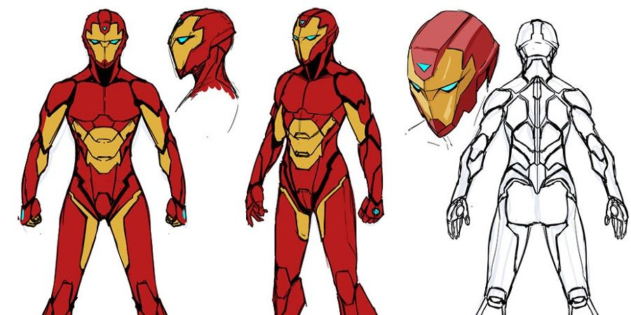 First Look At Female Iron Man S New Suit Screen Rant