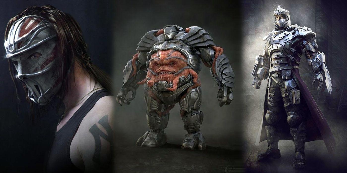 Tmnt 2 Concept Art Shows Alternate Shredder Krang And Casey