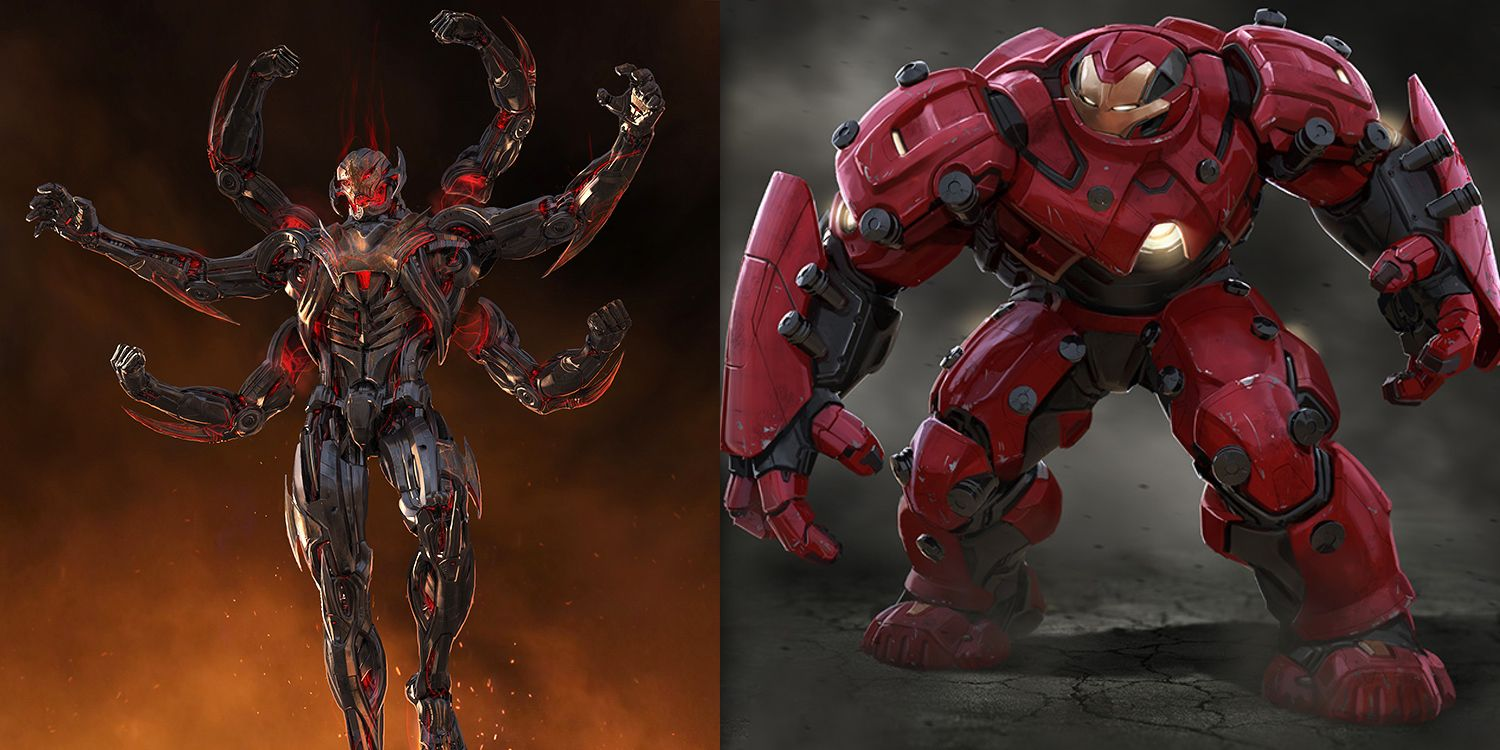 Avengers Age Of Ultron Concept Art Reveals Alternate Ultron
